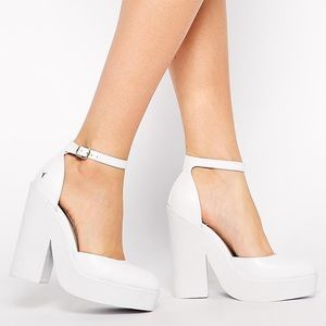 👠 Windsor smith leather white pow heels shoes